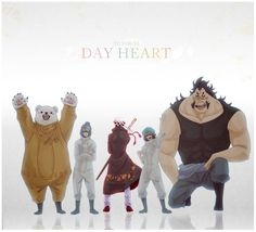 Heart pirates Trafalgar D. Water Law, Bepo, Shachi, Penguin, Jean Bart One piece
