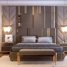 bedroom interior design Comfortable Modern Small Bedroom Design and Decor Ideas Master Bedroom Interior, Luxury Bedroom Design, Master Bedroom Design, Luxury Home Decor, Home Bedroom, Bedroom Decor, Bedroom Ideas, Bedroom Lamps, Bedroom Wall