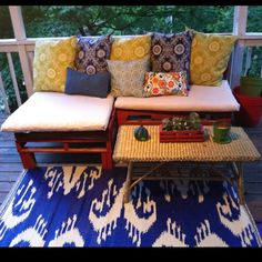 My diy pallet couch! I made all the cushions too! :)