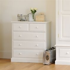 £285 Burford Painted 2+3 Chest of Drawers (J302) with Free Delivery | The Cotswold Company - DKW53