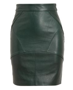 T BY ALEXANDER WANG Leather Pencil Skirt £625