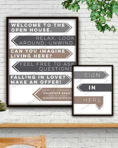 Modern Open House Sign In Set, Digital Print, Open House Flyer, Open House Sign, Open House, Sign In Sheet, Realtor Gift, Realtor Marketing by StarPrintShop on Etsy