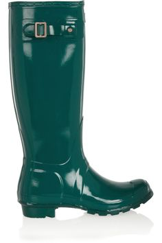 Tall Gloss Wellington boots Hunter Original emerald-green Tall Gloss Wellington boots - Heel measures approximately 1 inch with a inch gripped sole - Glossed-rubber- Buckled tab, designer plaque, round toe- Hunter Original, Wellington Boot, Discount Designer Clothes, Hunter Boots, Clothes For Sale, Rubber Rain Boots, Heeled Boots, Uggs, The Originals