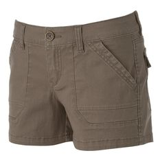 But in red Juniors' Unionbay Stretch Twill Shortie Shorts