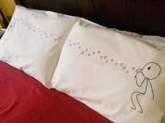 VALENTINE'S DAY GIFT - MATCHING HIS AND HERS PILLOW SET