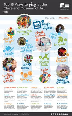 Top 15 Ways to Play at CMA | Cleveland Museum of Art Chalk Festival, Vacation Wishes, Make Art, How To Make, Cleveland Museum Of Art, Lions, Places To Go, Happy Things, Play