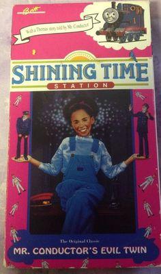 Vintage RARE Thomas Train Shining Time Station Mr Conductors Evil Twin VHS Video | eBay