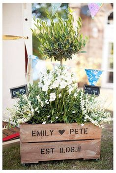 personalised wedding gift crate by plantabox | notonthehighstreet.com
