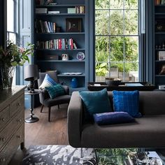 Source: Living Etc More of that luscious blue room featured in December's Living Etc. I could make myself at home there…..
