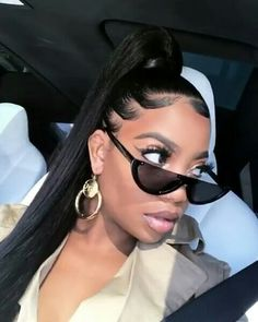 Weave Ponytail Hairstyles, Cute Hairstyles, Hair Threading, Curly Hair Styles, Natural Hair Styles, Edges Hair, Curls For The Girls, High Ponytails, Braids Wig