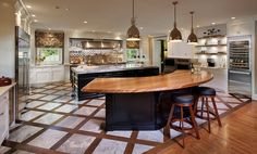 Zebrawood Counter Bar Top By Grothouse   Traditional   Kitchen Countertops    Baltimore   The Grothouse Lumber Company