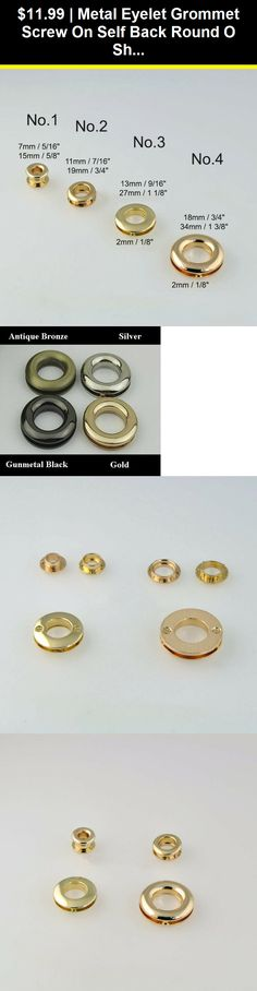 Hole 100 Sets Grommets Eyelets with Washers for Shoes Bead Cores Gunmetal Clothes CRAFTMEmore 5//16 8MM Leather Canvas
