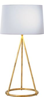 love that this lamp is big but doesn't take up a lot of visual space