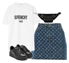 """""""Untitled #2042"""" by deamntr ❤ liked on Polyvore featuring Louis Vuitton, Givenchy, Kenzo and Alexander Wang"""