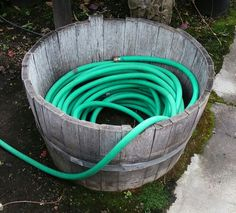 7 Creative Ideas For Your #Garden Hose #Storage Container  Www.mommylivingthelifeofriley.com | Outdoor Decor Inspirations | Pinterest  | Hose Storage, Garden ...