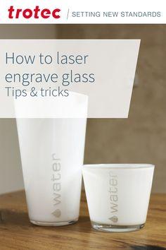 Trotec Laser, Carafe, Colored Glass, Laser Engraving, Shot Glass, Tumbler, Knowledge, Tableware, Diy