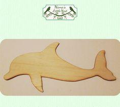 Delfín pequeño madera cortada fuera corte por nanaslittlenest