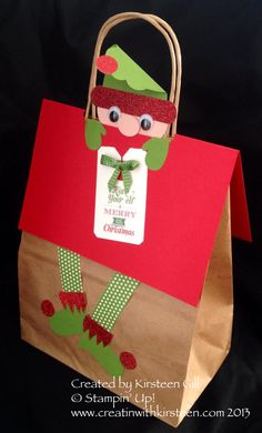 Elf Bag Topper: cute cute cute, love packaging that's made with care!
