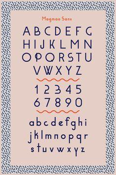 - Magmao Sans - New font coming soon, Developped & designed by Amaury Hamon.