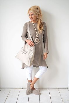 PARIS Knitted Dress, NATURAL - BYPIAS Linen Knits - BYPIAS