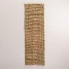 NEUTRAL:  RUNNER.  Entry rug in front of table.  Natural Basket Weave Jute Rug | World Market
