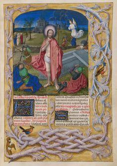Isabella Breviary illuminated manuscript depicting the Resurrection of Christ. Netherlands, circa 1490-1497. British Library