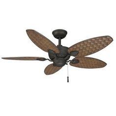 Outdoor Ceiling Fan: Hampton Bay Ceiling Fan. Largo 48 in. Outdoor Gilded Iron Ceiling Fan 26684