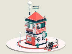 Mini Tower by Adam Wells - Dribbble
