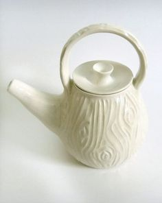 Faux Bois Porcelain Teapot
