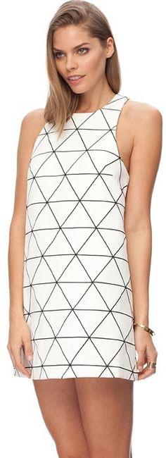 Cameo From Time Dress on shopstyle.com.au #DerbyDay #Monochrome #Dress