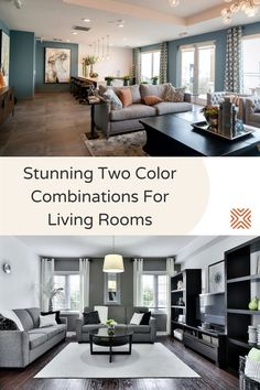 Planning on painting your living room walls? If you want a bold new look for your living room design, go for a fabulous two-color combination! Be inspired by these two-color combination painting ideas for living rooms
