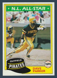 Dave Parker # 640 - 1981 Topps Baseball