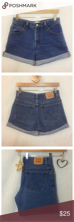 "Vintage Levi's High Waist Roll Up Jean Shorts Vintage Levi's High Waist Roll Up Jean Shorts  • Sz 8 • Can be rolled up or worn unrolled • 100% cotton denim • High rise - 10.5"" rise • Waist - 14.75"" (measured flat) • Inseam - 6"" • Total length - 15.5"" • Traditional five pocket styling • Very good pre-loved vintage condition, no imperfections, I believe the style is 530 or 520. It is difficult to make out the middle digit levis Shorts Jean Shorts"