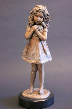 There Was A Little Girl With A Wee Little Curl - Angela Mia De La Vega - Elegant Bronze Figurative Sculpture Sculptures Céramiques, Art Sculpture, Bronze Sculpture, Plaster Sculpture, Sculpture Garden, Paper Clay, Clay Art, Ceramic Sculpture Figurative, Wassily Kandinsky