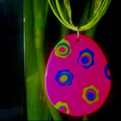 $20 handcrafted polymer clay Easter egg pendant