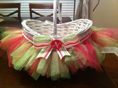 Tutu Easter Basket, wicker Easter basket, Rustic Easter craft... - Decor - birthday basket: 2014 Easter Basket Crafts for Kids by tracyideas