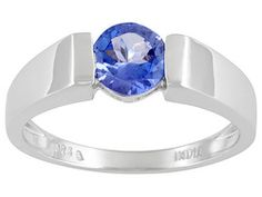 .74ct Round Tanzanite Sterling Silver Ring
