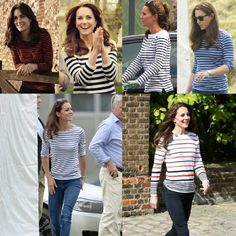 "93 Likes, 4 Comments - HRH The Duchess Of Cambridge (@duchesse_kate) on Instagram: ""All Catherine's stripped tops wich one is your favourite ? (I taged the brand on the picture )"""