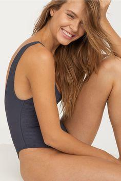 Swimsuit - Grey-blue - Ladies | H&M GB 1