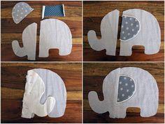 DIY Knistertuch Schmusetuch Elefant
