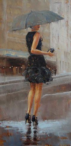 Play Date Painting by Laura Lee Zanghetti