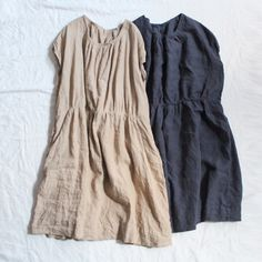 Raise the waistline, and scoop or V the neckline and these are a dream! Love the simplicity and comfort!