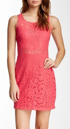 Want & Need | Lace Bodycon Illusion Dress