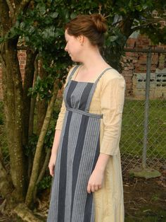 Diary of a Seamstress: Striped Linen Regency Apron