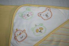 Baby Receiving Blankets, 2 Ply, Panda Bear, Talbots, Hoods, Baby Kids, Yellow, Animals, Cowls