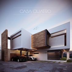 Top 10 Modern house designs – Modern Home Modern House Facades, Modern Architecture House, Residential Architecture, Modern House Design, Architecture Design, Facade Design, Exterior Design, Building Exterior, Building A House