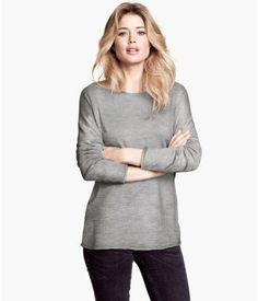 H&M. Pink, Gray and Natural Whiter are 100% Cotton. $19.95. Fine-Knit Sweater.