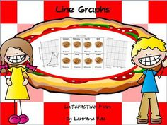 LINE GRAPHS INTERACTIVE FREEBIE from TeachToTell on TeachersNotebook.com -  (9 pages)  - This line graph interactive activity set is one of eight other sets in the Line Graphs Interactive Collection aligned to Common Core Standards.