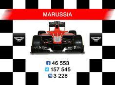 Russian Formula 1 team Marussia in social media