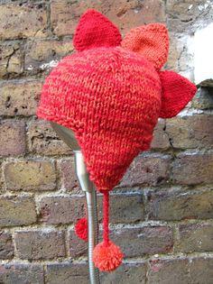 Red & Orange Dinosaur Knitted Hat £16.00